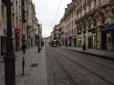 Old Town of Orleans, France. Trams run.