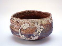 Wood fired shino tea bowl by elenarenker