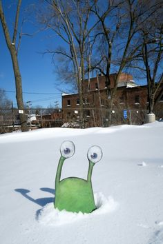 """""""Sluggo's prediction: six more weeks just to get all this off the sidewalk."""""""