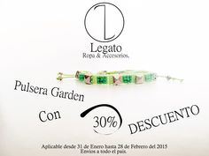 Pulsera Garden con el 30% de descuento !!! Oferta valida hasta el 28 de Febrero !!! #Garden #Pulsera #Descuento #Sale #Jardin Info:3123721833