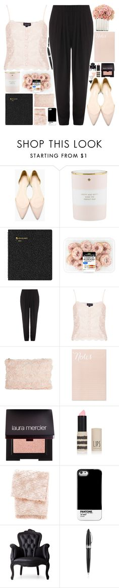 """Pretty in Pink"" by allamess ❤ liked on Polyvore featuring 3.1 Phillip Lim, Kate Spade, AT-A-GLANCE, Alexander Wang, Topshop, Sugar Paper, Laura Mercier, Pine Cone Hill, Case Scenario and Moooi"