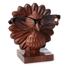 Perry the Carved Peacock Eyeglasses Holder This handmade charmer holds onto your specs so you don't have to. Unique Gifts For Mom, Best Gifts For Men, Gifts For Wife, Cool Gifts, Clean And Shiny, Eyeglass Holder, Mom Birthday Gift, Keep Jewelry, Handmade Home Decor