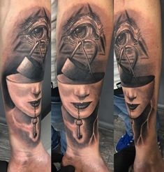 Surrealistic Arm Tattoo