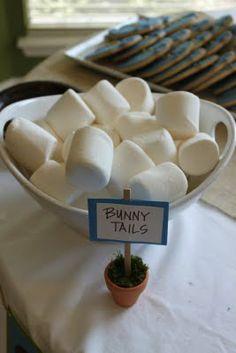 Peter Rabbit Party bunny tail marshmallows