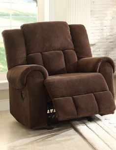 Bunker Chocolate Fabric Glider Reclining Chair