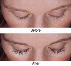 Before and after! Vaseline used to help grow longer, fuller lashes! Take a q-tip and rub some on your lashes before bed!