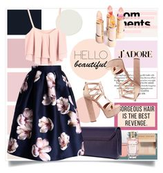 """Floral ^^"" by erina-salkic ❤ liked on Polyvore featuring Versace, Bobbi Brown Cosmetics, Chicwish, Aquazzura, Elie Saab, summerstyle and fashionset"