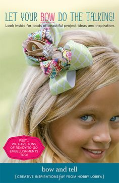 13 DIY bows and hair accessories your little girl will love!