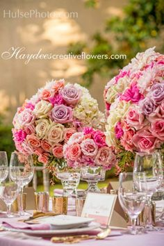 Styled Shoot: Romantic Pink and Gold Table Design | Calligraphy by Jennifer