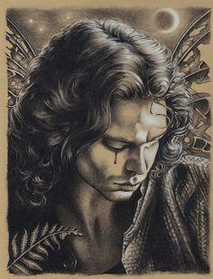 Jim Morrison Enchantment Drawing  - Jim Morrison Enchantment Fine Art Print