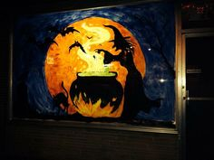 halloween window paint