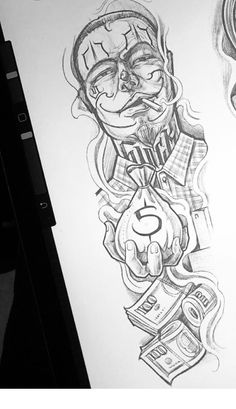 Chicano Tattoos Sleeve, Chicano Style Tattoo, Forearm Sleeve Tattoos, Best Sleeve Tattoos, Body Art Tattoos, Chicanas Tattoo, Money Tattoo, Tattoo Design Drawings, Tattoo Sketches