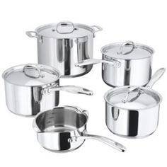Stellar 7000 5 Piece Pan Set-Stainless Steel- Casserole Suitable for Aga Rayburn in Home, Furniture & DIY, Cookware, Dining & Bar, Pots & Pans Cast Iron Cookware, Cookware Set, Pan Set, Aga, Kitchenware, Stainless Steel, 1 Milk, Pots, Saucepans