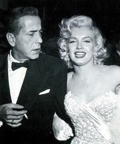 Humphrey Bogart and Marilyn Monroe by classic film scans, via Flickr