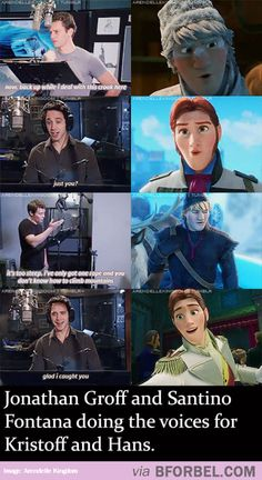 The Voices Of Kristoff And Hans…
