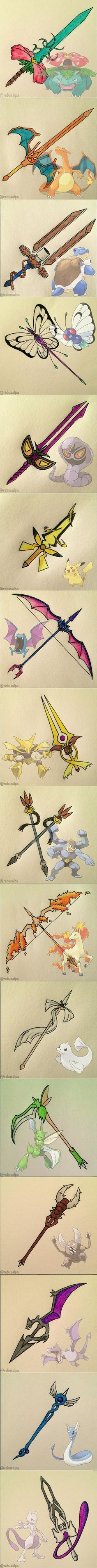 Pokemon Weapons.