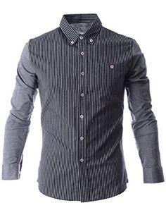 FLATSEVEN Mens Narrow Striped Button Down Long Sleeve Casual Shirt (SH1014) Grey, L FLATSEVEN http://www.amazon.com/dp/B00N4THTTE/ref=cm_sw_r_pi_dp_dsl0ub1BMTTA5 #FLATSEVEN #Striped Casual Shirt #casual #men #fashion #mens fashion #shirts #casual