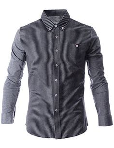 FLATSEVEN Mens Narrow Striped Button Down Long Sleeve Casual Shirt (SH1014) Grey, M FLATSEVEN http://www.amazon.com/dp/B00N4THRXM/ref=cm_sw_r_pi_dp_PAolub0CRF3N8