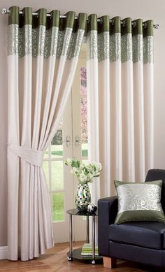 Ring Top Eyelet Ready Made Curtains Faux Silk Green 66 X 90 90 X 90 Bedroom