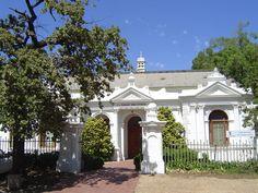 Historic Library, Stellenbosch University Cape Dutch, Beautiful Sky, Cape Town, Wonderful Places, Malta, South Africa, Holland, Landscapes, Scenery