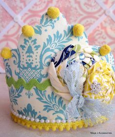 Kinda cute... but a little much... (Infant CrownBirthday CrownFirst Birthday by MayaJAccessories, $34.99)