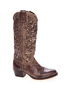 OBSESSED. frye bedazzled cowboy boots