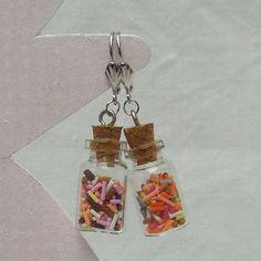 Boucles d'oreilles fioles fimo kawaii : Boucles d'oreille par sweet-kiss