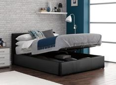 Brilliant Cooper Charcoal Grey Fabric Ottoman Bed Frame Bedroom Camellatalisay Diy Chair Ideas Camellatalisaycom