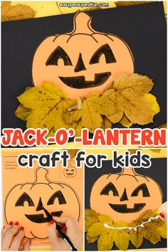 Pumpkin Craft Template - Easy Peasy and Fun First Halloween, Halloween Crafts For Kids, Crafts For Kids To Make, Craft Activities For Kids, Holiday Crafts, Fun Crafts, Printable Pumpkin Carving Patterns, Pumpkin Carving Stencils Free, Pumpkin Display