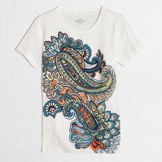 a838fa6f6 Factory paisley collector tee. J CrewBoho FashionLadies FashionThe CollectorGraphic  TeesPaisleyEarly ...
