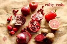 We ♥ our red fruits & veggies! #tujagram