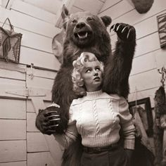 A series of playful portraits of Marilyn Monroe circa 1953, shot by acclaimed photographer John Vachon in Banff National Park.