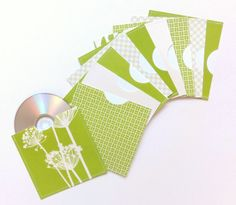 Green Floral and Plaid Assortment of Stitched CD / by ShastaBlue, $18.00