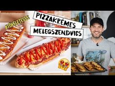 Zé-féle pizzakrémes melegszendvics - YouTube Hot Dog Buns, Hot Dogs, Youtube, Grilling, Lunch Box, Food And Drink, Bread, Make It Yourself, Ethnic Recipes