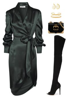 """""""Untitled #5205"""" by mdmsb ❤ liked on Polyvore featuring Yves Saint Laurent, Gianvito Rossi, Prada and Paula Mendoza"""