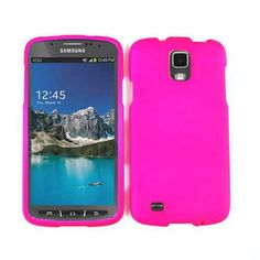 Unlimited Cellular Snap-On Protector Case for Samsung I9252 Galaxy S4 Active/i537 (Fluorescent Dark Hot Pink)