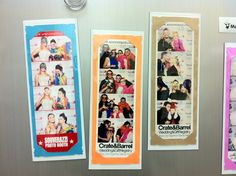 Photo Booth Party Favor Magnetic Card Strip Frames. $2.00, via Etsy.