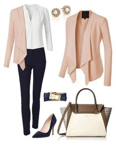 """Everyday Work Outfit"" by le3noclothing ❤ liked on Polyvore featuring Oscar de la Renta, Vince Camuto, LE3NO, Kate Spade, Tory Burch, women's clothing, women, female, woman and misses"