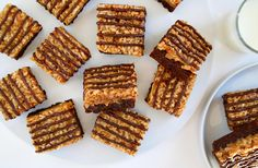 Transform a classic Girl Scout cookie into a sliceable sweet with a quick and easy recipe for Samoas Coconut Caramel Brownies!