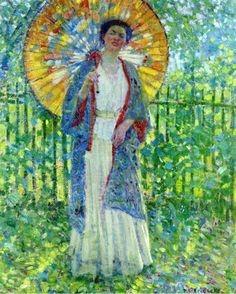 Ladies in the Garden by Frederick Frieseke ~ Blog of an Art Admirer