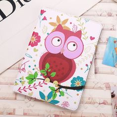 IPad Protective cute case with animal owl amp Eiffel Tower for inch