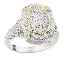 Pave DMQ ring with 14K clad J156853