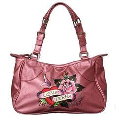 97c776b974 Ed Hardy  Love Eternal  Rose Print Tote Bag