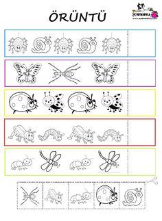 Kindergarten Worksheets, Preschool Activities, Math Patterns, Early Literacy, Crafts For Kids, Bullet Journal, Classroom, Go Math Kindergarten, Kids Math