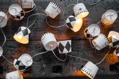 Papier-Lichterkette DIY, Miss Etoile, paper fairylights. Do it yourself