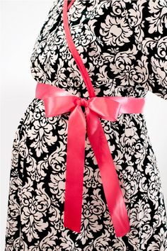 Maternity Hospital delivery gown- Avery Hot Pink Delivery Gown-  Michael Miller fabric-ALL Sizes READY to SHIP. $65.00, via Etsy.