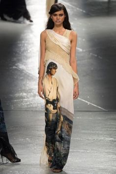 Rodarte worked Star Wars designs into beautiful high fashion dresses on the runway for AW 2014