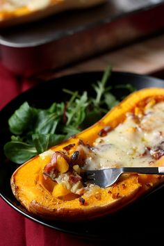 Courge butternut rôtie au four