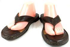 Born Shoes Womens Size 11 M Brown Leather Flip Flops Sandals #Brn #FlipFlops