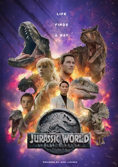 "Jurassic world ""Fallen Kingdom"" poster created by Unai Lizarza. Blue Jurassic World, Jurassic World Movie, Jurassic World Fallen Kingdom, Dinosaur Photo, Dinosaur Images, Michael Crichton, The Incredible Hulk 2008, Dinosaur Fight, Jurrassic Park"